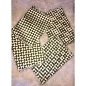 Vintage Handmade Houndstooth Knit Placemats